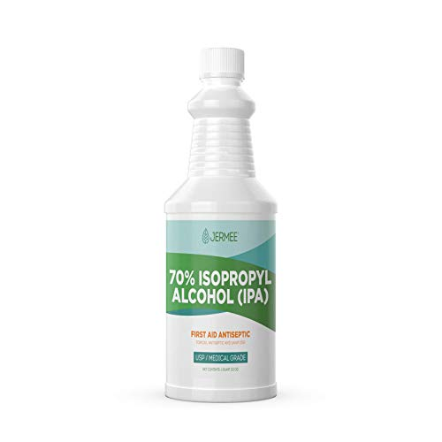 Jermee Isopropyl Alcohol (IPA) 70% Purity - USP/Medical Grade - First Aid Antiseptic, Topical...