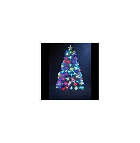 Sapin de Noël en fibre optique Bouquet H90 cm