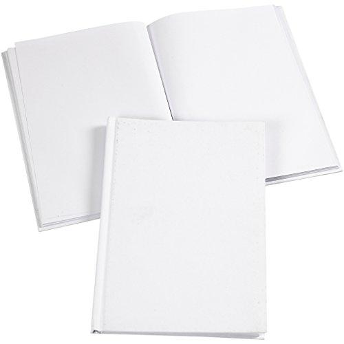 Notizbuch A5 15x21 cm weiß 1 Stück