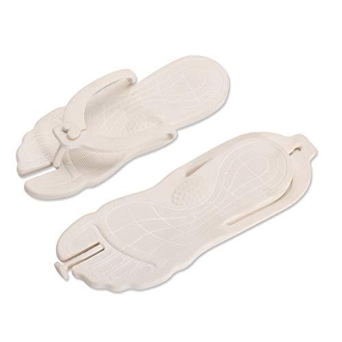 MRULIC Mode Unisex Sommer Strand Flip Flops Strand Anti-Slip Freizeitschuhe Hausschuhe Schuhe Freizeitschuhe(Weiß,38-39 EU)