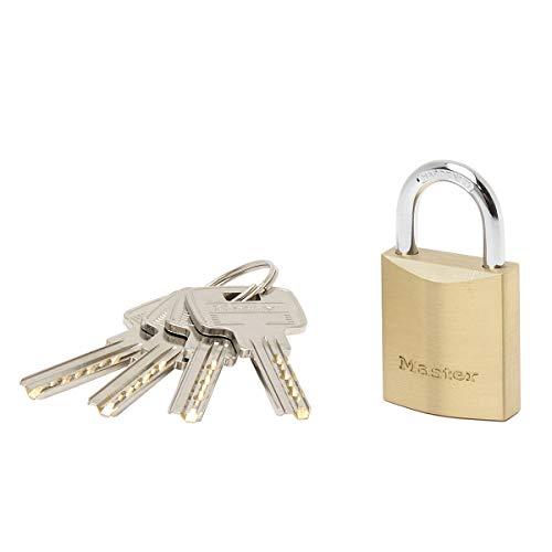 Master Lock 2930EURD Schlüssel Vorhängeschloss aus extradickem Massivmessing, Gold, 5,4 x 3 x 1,4 cm