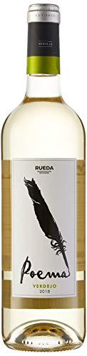 Poema Verdejo Vino Blanco D.O Rueda-6 botellas de 750 ml (Total 4.5 L) BODEGA CUATRO RAYAS