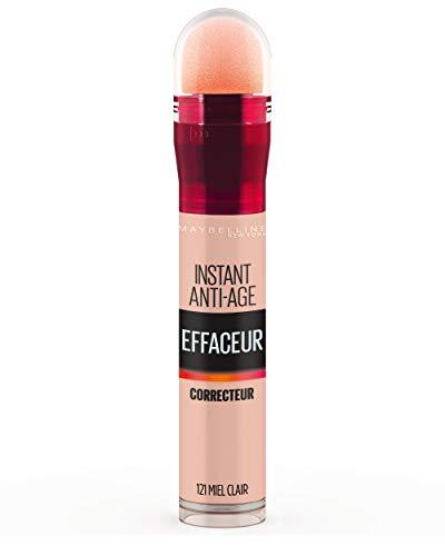 Maybelline New York - Anti-Cernes/Correcteur Fluide - Instant Anti-Age L'Effaceur - 121 Miel Clair - 6,8 ml