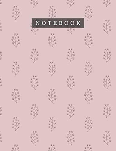Notebook Rosy Brown Color Cute Flowers Floral Pattern Background Cover: Daily Journal, Teacher, Daily, 110 Pages, A4, Mom, Month
