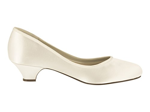 Rainbow Club Brautschuhe Paula – Ivory Satin – Pumps - 2