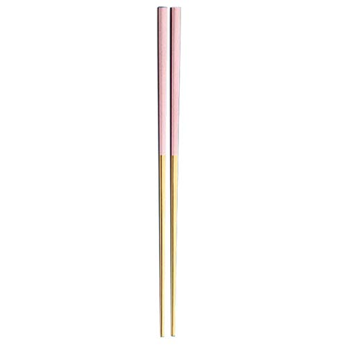 Fineday 1 Pair Reusable Chopsticks Metal Korean Chinese Stainless Steel Chop Sticks, Kitchen,Dining & Bar, Products for Xmas Day (Pink)