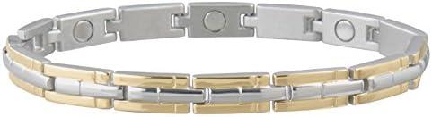 Sabona Ladies Magnetic Link Bracelet Two Tone S M 1 Ounce product image