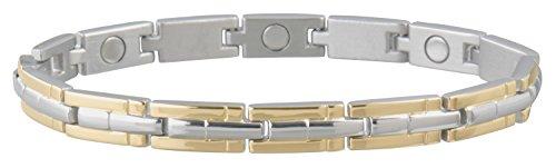 Sabona Ladies' Magnetic Link Bracelet, Two-Tone, S/M, 1 Ounce