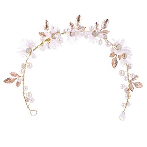Lurrose Diadema decorativa de novia creativa novia diadema brillante novia boda tocado