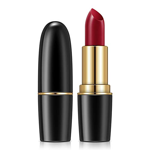 Ainsintsy Lippenstift hält ohne Make-up Bullet Lippenstift Befeuchten Feuchtigkeitsspendend Lippenbalsam Matt Lippenstift,03