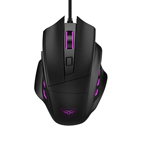 CP3 Wired Gaming Mouse 3200 DPI Adjustable Computer Mouse 6 Buttons PC Gaming Mice with 4 LED Lighting for Desktop Laptop and PC, Compatible with Windows 7/8/10/XP Vista Linux