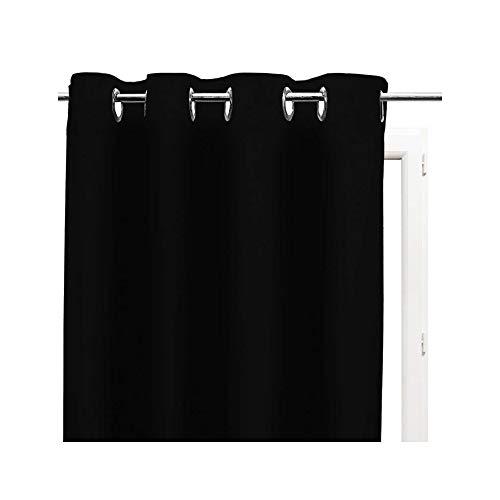 Soleil d'Ocre ALIX, Tenda con Occhielli, 135 x 250 cm, Colori Nero