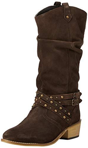Joe Browns Damen A Touch Of Boho Suede Boots Mode-Stiefel, braun, 37 EU