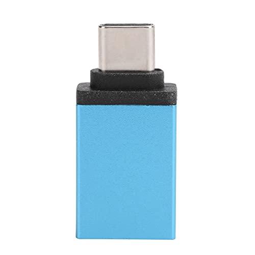 Yunseity Adaptador Tipo C a USB 3.0, convertidor de Adaptador Tipo C, Carga rápida USB Tipo C para Accesorios de computadora portátil con Interruptor de teléfono móvil(Lago Azul)