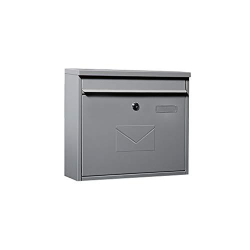 YYF Robust Mailbox Großer europäischer Stil Villa Mailbox Außenwand wasserdicht und wasserdichter Kurier-Briefkasten dauerhaft