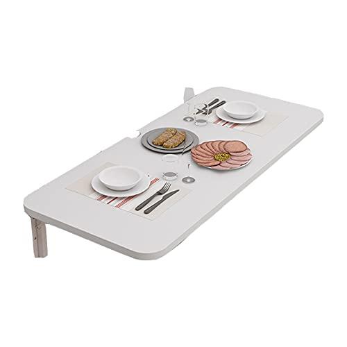 Mesa Plegable Pared Colgar En La Pared Escritorio Pared Plegable Ahorra Espacio Protección De La Salud Y El Medio Ambiente Usado para Cocina Escritorio Cuarto (Color : White, Size : 80x40cm)