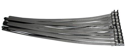 Universal vorgefertigte AISI 304 SS EDELSTAHL Schlauchschellen/Klemmschelle-Set Länge 360 mm/Bandschellen/Schlauchschellenband geeignet für Schlauchbandzangen Edelstahlband Kabelbinder, 20-tlg.