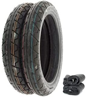 IRC Durotour RS-310 Tire Set - Compatible with Honda CB650 CB750A 77-78 CB750K 80-82 CB750L GL1000 - Tires and Tubes