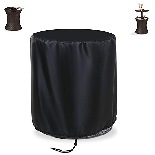 "Aidetech Patio Bar Table Cover Round Waterproof, Windproof Dustproof Cool Bar Table (20"" D x 22"" H)"