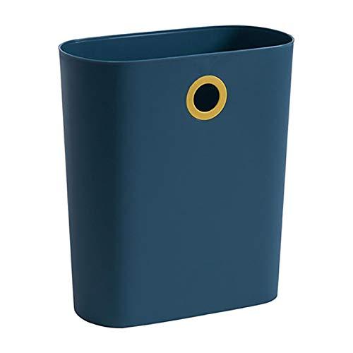 JINSUO Küchenmülleimer, groß, schmal, zum Aufhängen, für Badezimmer, Desktop-Mülleimer (Farbe: Blau)