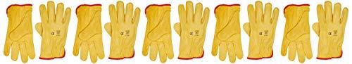 Himalayan H310-10 Premium Drivers Glove, Yellow, 10 Size, Pack of 10