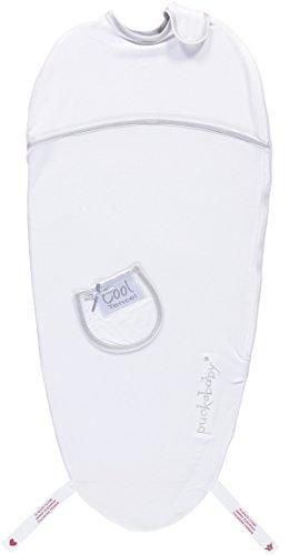 Puckaby® PIEP - Baby rugzak met buikband - 0/3 M Tencel : wit