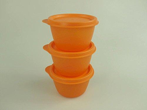 TUPPERWARE Kühlschrank Uno 120 ml orange (3) Dose Vorrat Frischhaltedose Julchen