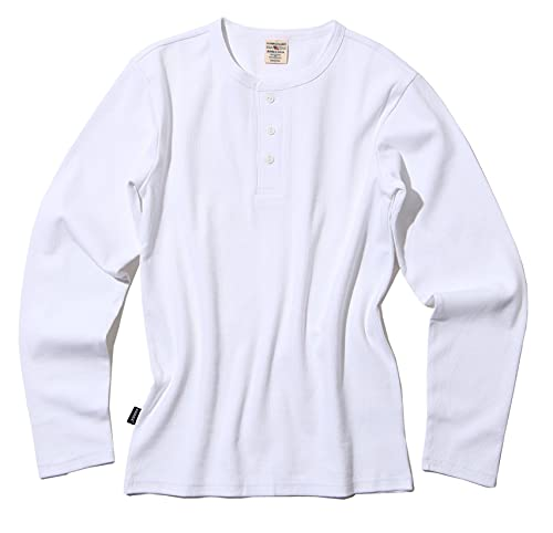 [アヴィレックス] (抗菌)(防臭) Tシャツ長袖 DAILY RIB HENRY NECK TEE 6153482 メンズ