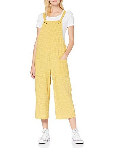 Pantalón de Peto amarillo pesquero para mujer