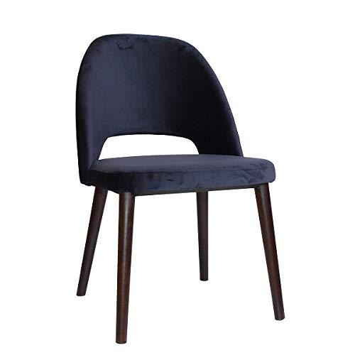 pemora Polsterstuhl Schalenstuhl Esszimmerstuhl Wohnzimmerstuhl Sessel Designer Stuhl Selma im Retro-Stil dunkelblau