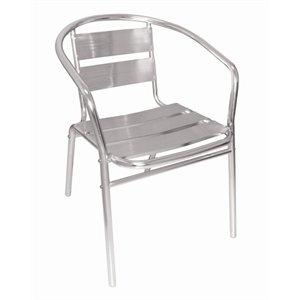 Bolero U419 Aluminum Arm Stuhl, 530mm x 580mm x 735mm, Silber, 4 Stück