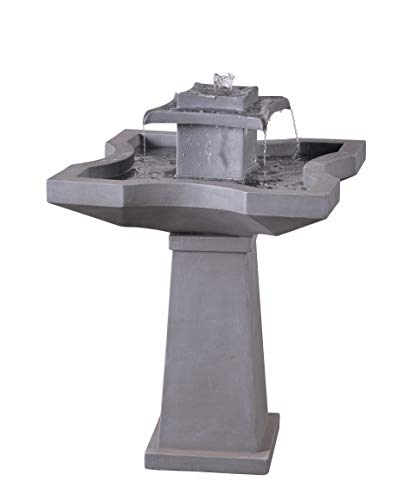 Kenroy Home 51057CON Quad Fountains, 32 Inch Height, Concrete Finish