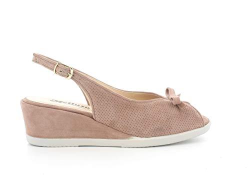 Melluso Sandalo Donna g300a in camoscio Rose con Sottopiede in Memory Foam 36
