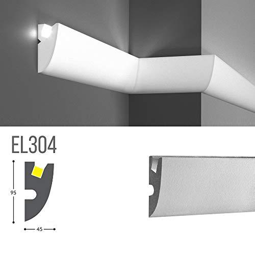 Marco para iluminación indirecta LED de pared o techo - EL304 (1,15 metros)