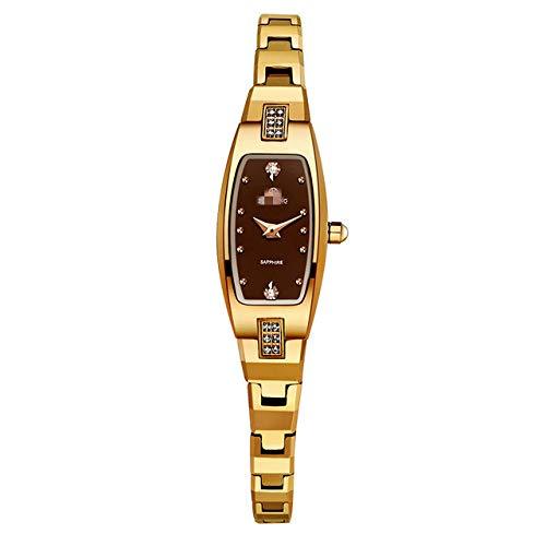 Schmuck Uhr Frau Quarz Saphir Kristall Uhr Wolfram Stahl Armband Kleines Zifferblatt Damenuhr 22cm g