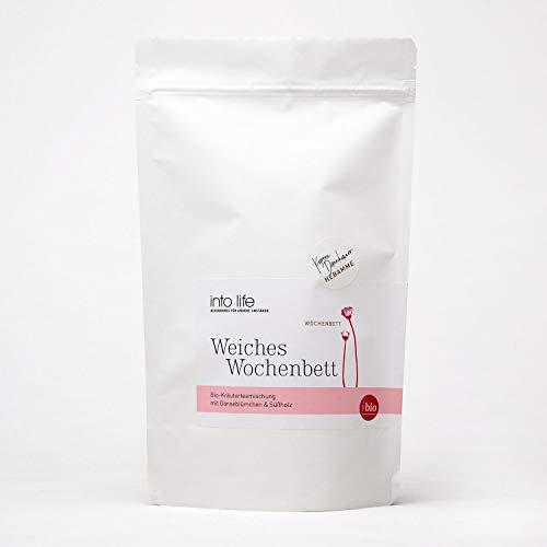 Weiches Wochenbett | Bio-Teemischung nach der Geburt | 120 g | into life | Kareen Dannhauer | Kräutertee aus Hebammenhand | biozertifiziert | für die Zeit nach der Geburt | mit Süßholz