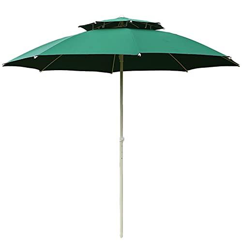 Sombrillas para Patio 9 pies Sombrilla de patio Paraguas de mesa al aire libre con Ventilación de viento, Paraguas de mercado por Jardín/ Patio interior/ Piscina, 3 capas Costillas a prueba de viento