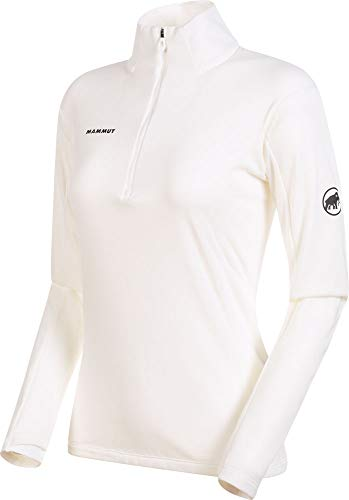 Mammut Camiseta M/L Moench Advanced Half Zip Manga Larga, Mujer, Bright White, S