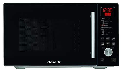 Brandt SE2612B - Micro-ondes pose libre 26L - 900W - 5 niveaux de puissance de cuisson - Minuterie 95min - Cavité Inox - Noir