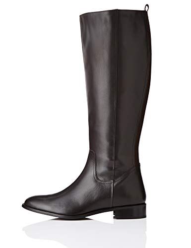 find. Flat Knee Length Leather Botas Altas, Marrón Brown, 41 EU