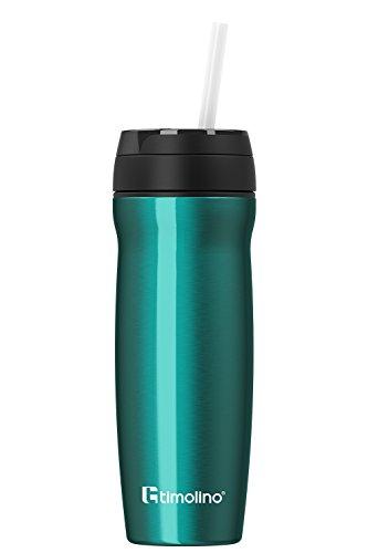 Premium thermobeker - roestvrij staal - isoleerbeker koffiebeker voor warme en koude dranken - lekvrij - BPA-vrij - 500 ml voor koffie en thee - Coffee to Go - theezeef - fruitzeef - groen