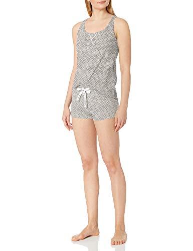Calvin Klein Damen Jersey Tank and Short Pajama Pyjama Set, Reflektierendes Ck, Medium
