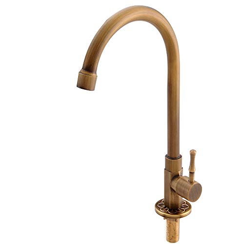Antique simple robinet froid cuivre lavabo continental vadrouille piscine balcon robinet cuisine Lu5059LL