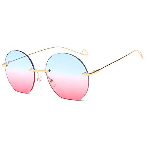 FGKING Gafas de Sol Redondas Estilo, 100% protección UV PC Lente Metal Marco Gafas de Sol para Mujeres,a