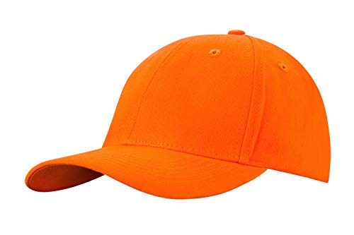 4sold Gorra de béisbol Estilo Polo clásico Deportivo Casual Liso Sombrero de Sol (Orange)