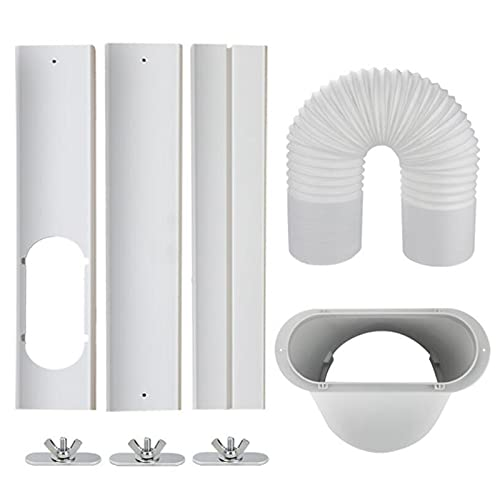 SODIAL Portable Air Conditioner Window Kit with Coupler Adjustable Window Seal for AC Unit,Universal for Ducting with 5.9 Inch