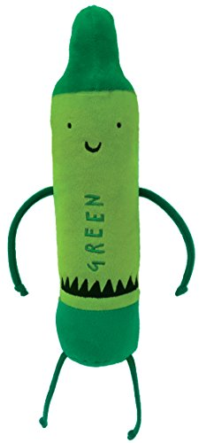 MerryMakers The Day The Crayons Quit Green Plush Toy, 12-Inch