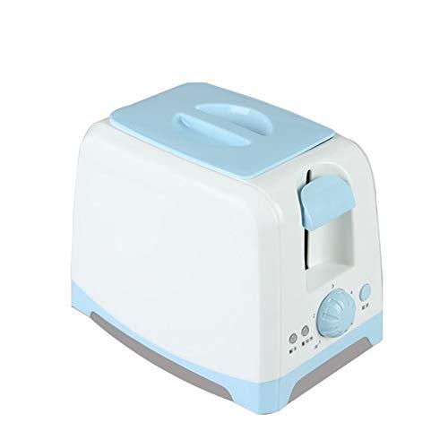 WANGYIYI Tostadora Hogar 2 Slice Slots Desayuno Sandwich Tostadora Tostadora automática con Cubierta de Polvo Ajuste de Temperatura de 5 velocidades (Color : Blue)