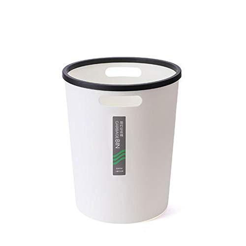 Papeleras Plástico redondo pequeño bote de basura contenedores de basura Papelera Papelera for cuartos de baño, polvo de salones, cocinas, oficinas en casa, for niños Habitaciones bote de basura