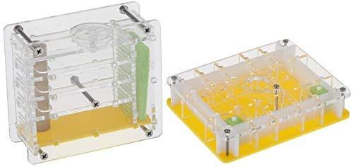 MIEMIE Ameisennest 2pcs Clear Ant Feeding Nursery Box Ameisenhaus Schloss für Insektenameise